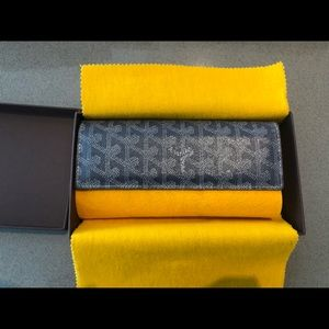 GOYARD GREY CHEVRON VAREEN WALLET